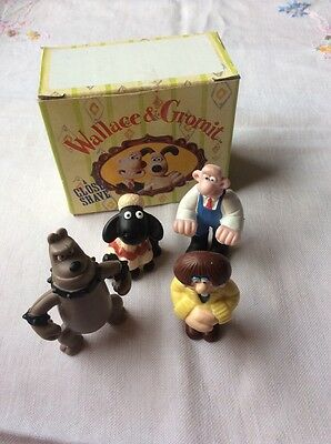"Wallace & Gromit *Rare* Collectible Figures ""A CLOSE SHAVE ""1989 Boxed."