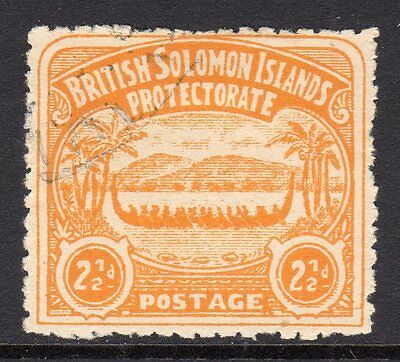 British Solomon Islands 1907  2½d Orange Yellow SG4 Used