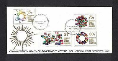 Singapur Singapore 1971 Minr 129 - 132 first day cover FDC used O Commonwealth