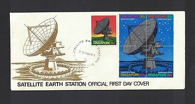 Singapur Singapore 1971 Minr 142 - 146  first day cover FDC used O Satellite