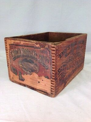 Enoch Morgan Sapolio Wood Crate Box Soap Chemicals Antique New York