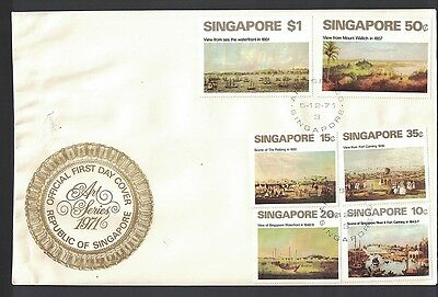 Singapur Singapore 1971 Minr 147 - 152 first day cover FDC used O paintings art