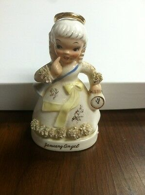 Broken Vintage Napco Angel Birthday January  For projects crafts A1361 Japan