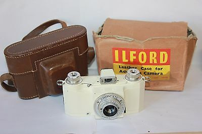 Ilford Advocate 35mm Camera with Original Leather Case & Dallmeyer Lens