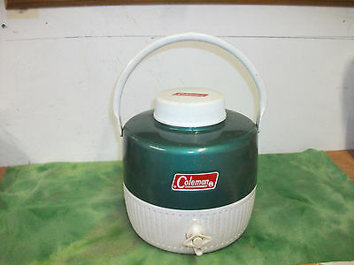 Vintage coleman One Gallon Thermos Jug  Insulated Metal & Plastic.