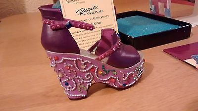 "Collectible Miniature Shoe ""Just the Right Shoe"" by Raine - Mardi Gras (Boxed)"