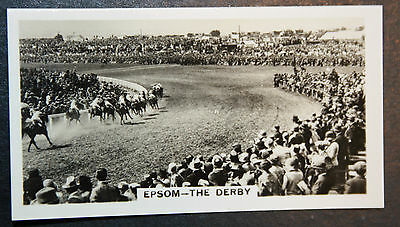 The Derby   EPSOM    Vintage Horse Racing Action Photocard  VGC