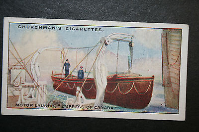 SS Empress of Canada   Canadian Pacific Liner  Motor Launch 1930's Vintage Card