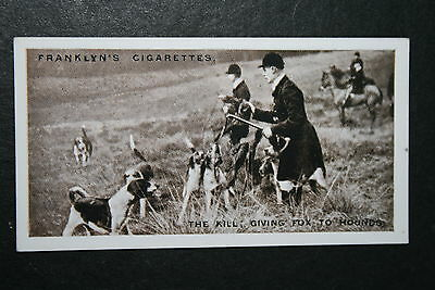 Warwickshire Foxhounds  at  Shuckburgh  Vintage 1920's Photo Card  VGC / EXC