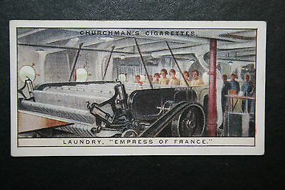 SS Empress of France  Canadian Pacific Liner  Laundry  1930's Vintage Card