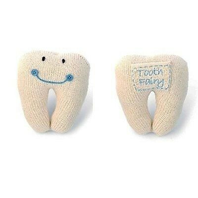 Mud Pie Baby Blue Tooth Fairy Pillow Boy Knit NEW