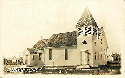 Methodist Church, Rppc - 1916, Glasgow, Montana, Vintage Postcard
