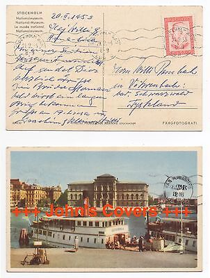 1953 SWEDEN Cover STOCKHOLM To VÖHRENBACH GERMANY Postcard National Museum