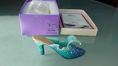 "Collectible Miniature Shoe ""Just the Right Shoe"" by Raine - The Wave (Boxed)"