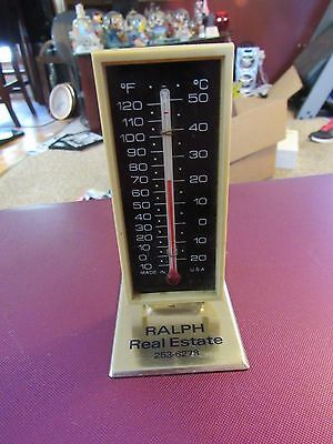 Vintage Advertising Thermometer Works Ralph Real Estate