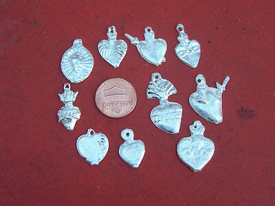 Milagro lot - 50 ALL HEARTS Mexican milagros