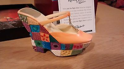 "Collectible Miniature ""Just the Right Shoe"" by Raine - Checkered Past (Boxed)"