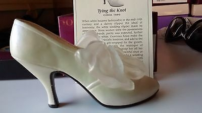 "Collectible Miniature ""Just the Right Shoe"" by Raine - Tying the Knot (Boxed)"