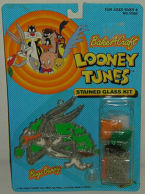 Vintage Looney Tunes BUGS BUNNY Stained Glass Kit Warner Bros. MIP