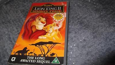 Walt Disney The Lion King II Simba's Pride VHS Pal Video