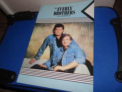 The Everly Brothers In Concert 1987 Tour Programme