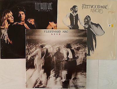4 FLEETWOOD MAC LP Records RUMOURS + MIRAGE + 2 LIVE - Very Good FREE SHIPPING