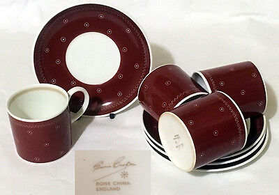 Set Of 4 Susie Cooper Coffee Cans And Saucers – Signed
