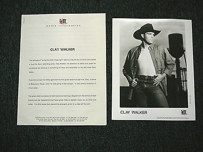 Clay Walker 1993 Cd Press Kit With Publicity Photo
