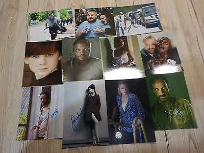 11 AUTOGRAMME WALKING DEAD SAMMLUNG  Chandler Riggs - Andrew Lincoln - -