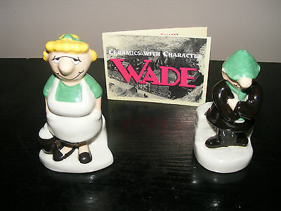 Wade 1997 Salt & Pepper Pots - Andy Capp & Flo Figures - Excellent Condition