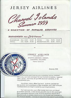 Jersey Airlines Ephemera 1950's