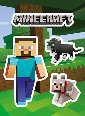 Vinyl Sticker / Aufkleber Set - MINECRAFT - Steve & Pets (Game) ca13x18cm SKP85