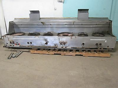 """""""restaurant Equip."""" Hd Commercial 154½""""w Nat. Gas 2 Jet/4 Ring Burners Wok Stove"""