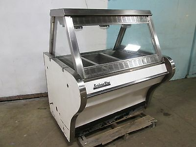 """bbq King"" Commercial Heated Lighted Full-Service Hot Food Display Merchandiser"