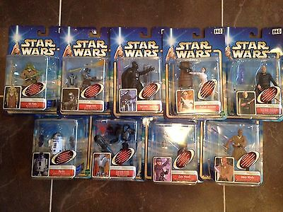 Star Wars Attack Of The Clones-Action Figures- Job Lot- European Cards