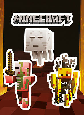 Vinyl Sticker / Aufkleber Set - MINECRAFT - Monsters (Game) - ca13 x 18cm SKP84
