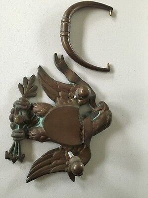 Eagle & Shield Door Knocker  Vintage Solid Brass Large Size