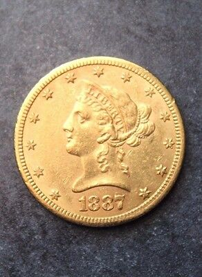 1887s LIBERTY GOLD COIN