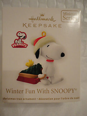 Hallmark ornament NEW Winter Fun With Snoopy 2012 MINIATURE 15 15th in series