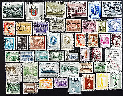 Peru Stamps 1938 - 1948 With Air Mail $90+ Value
