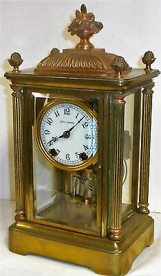 Antique Seth Thomas Kaiser Empire 15 Day Chime Clock Crystal Regulator Working