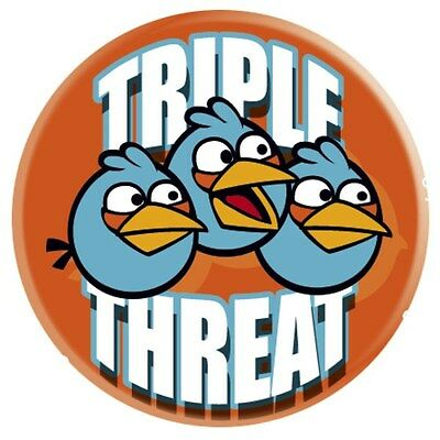 New Triple Threat Angry Birds Badge CLEARANCE SALE