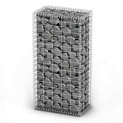 S# New Gabion Wall 4mm Strong Metal Gabions Basket Cage 100x50cm Galvanized Stee