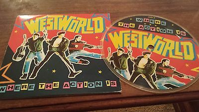 """WESTWORLD Where The Action Is UK 5"""" picture disc in gatefold sleeve RCA BOOM P3"""