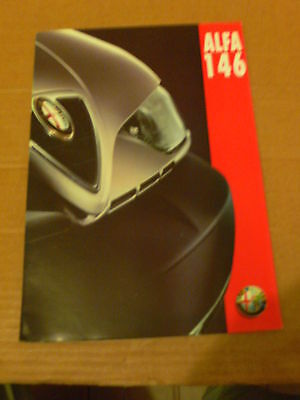 ALFA ROMEO 146  SALES BROCHURE  (FRENCH)  1995  #Alf14601
