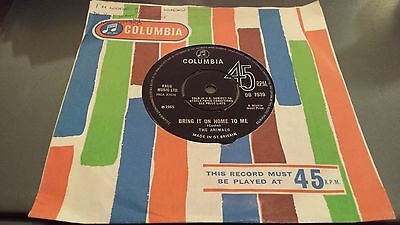"""The Animals : Bring It On Home To Me + For Miss Caulker UK Columbia 7"""" 45 1965"""