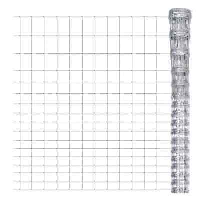 S# New Galvanized Chain Mesh Fence Post Set 2x50m Wire Garden Fencing Pet Chicke