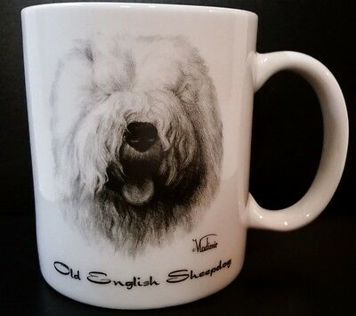 OLD ENGLISH SHEEPDOG COFFEE MUG 10 ounce From Rosalinde Made in USA