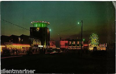 Southsea, Illuminations, Clarence Parade, colour postcard, posted 1978