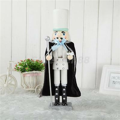 Christmas Decoration/gift Glittery Wooden Soldier Nutcracker Statue